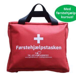 Førstehjælpstasken med førstehjælpskursus